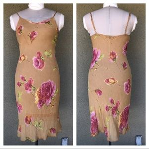 Betsey Johnson vintage 90s floral sheer slip dress